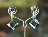 Square ring Crystal Bermuda Blue