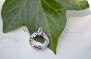 Cosmic ring Crystal Vitrail Light