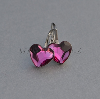 Heart Flat Back Fuchsia